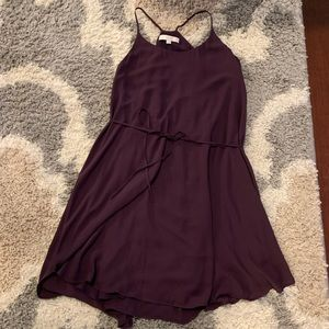 LOFT Purple Racerback Tank Dress - Medium